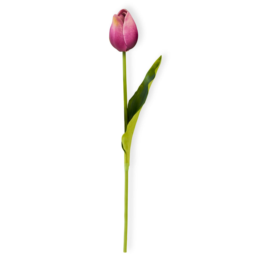 Purple Real Touch Mini Tulip Stem