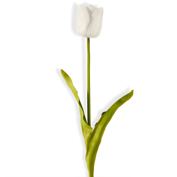 Large White Real Touch Tulip