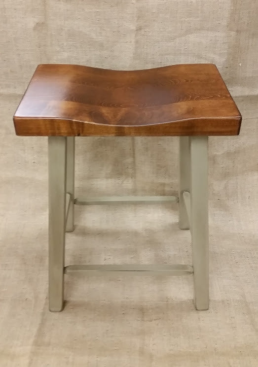 Pebblestone Country Saddle Stool with a Michael's Cherry Seat
