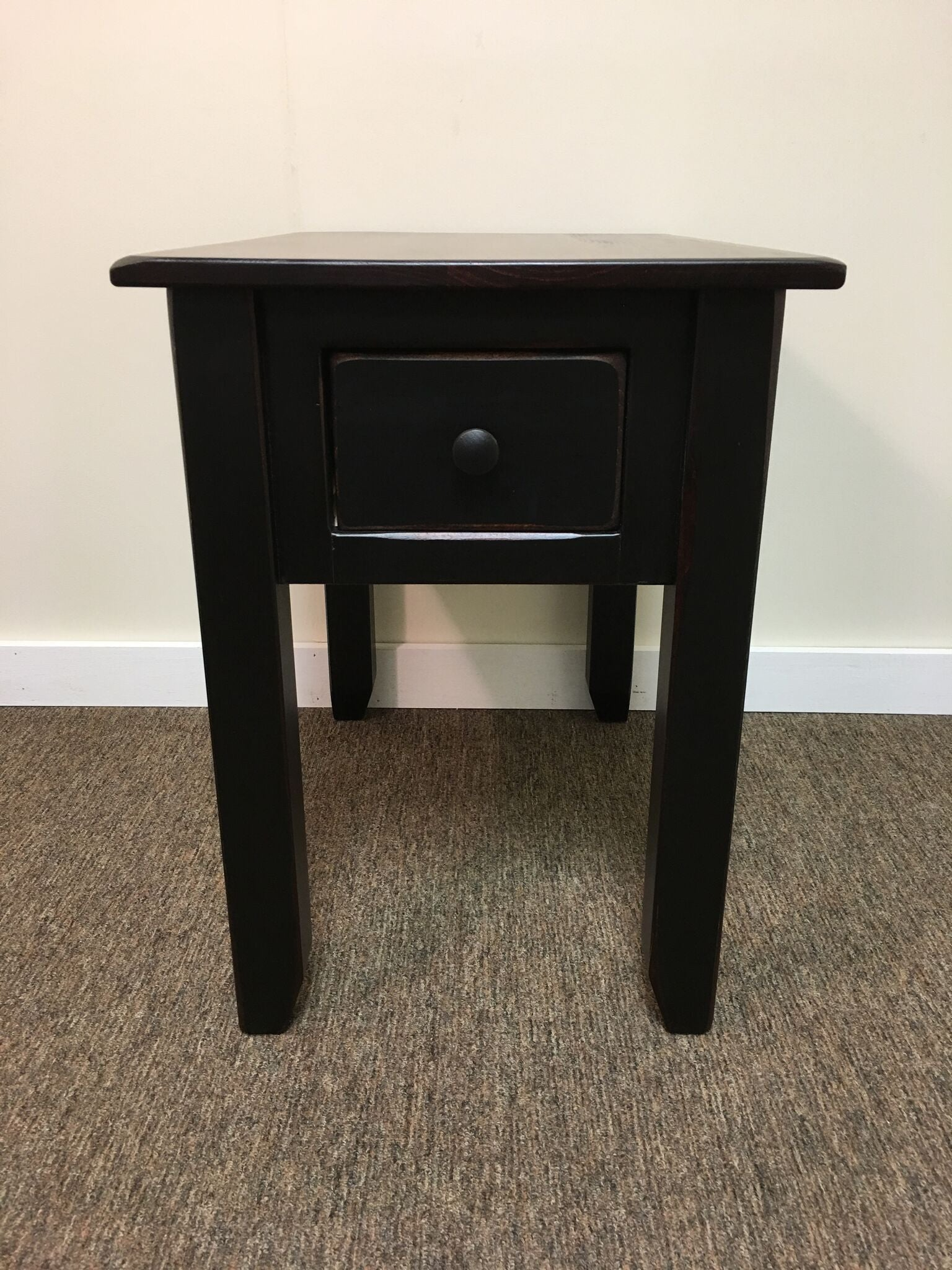 Black Side Table With Michael S Cherry Top Kc Country Home