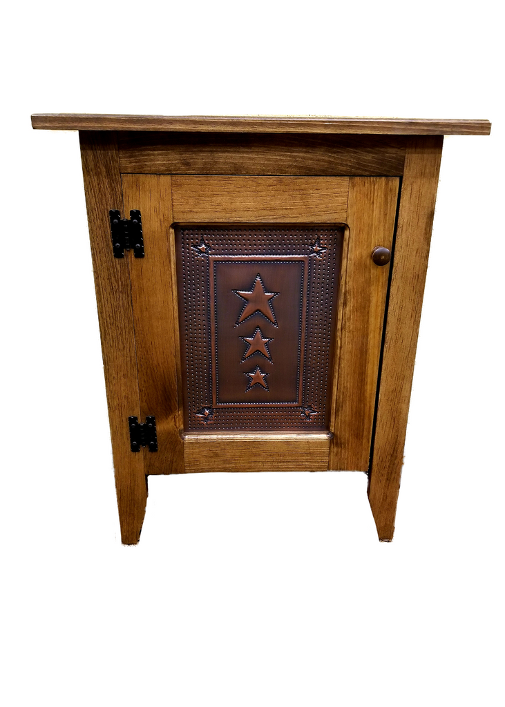 Special Walnut Single Door Cabinet with Tin Panel