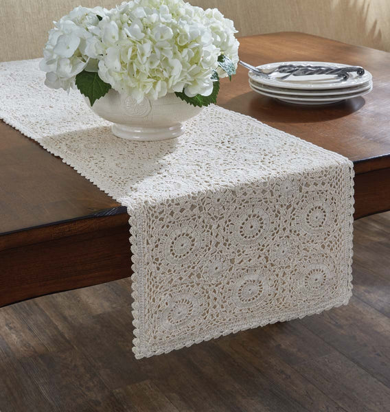 Lace Table Runner - Cream