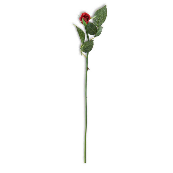 Red Real Touch Rosebud Stem