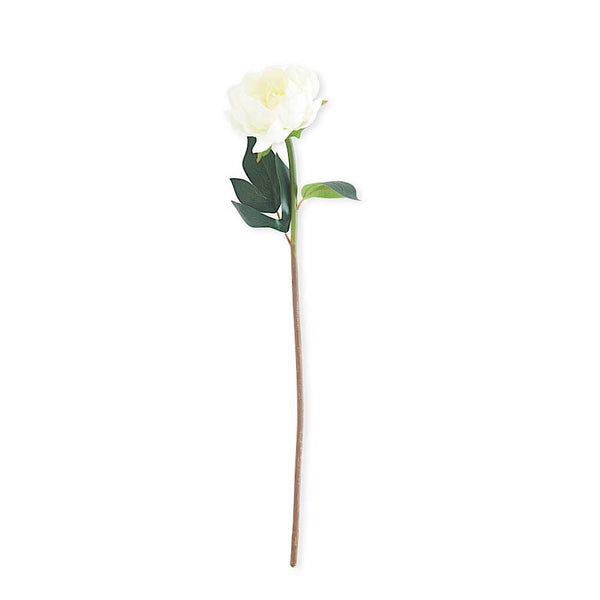 White Real Touch Peony Stem