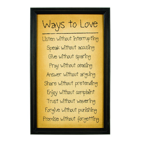 Ways to Love Stitchery