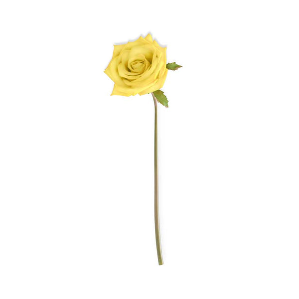 Yellow Real Touch Rosebud Stem