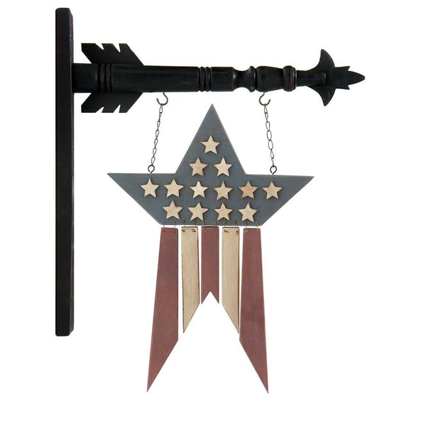 Wood Americana Star w/Hanging Slats Arrow Replacement