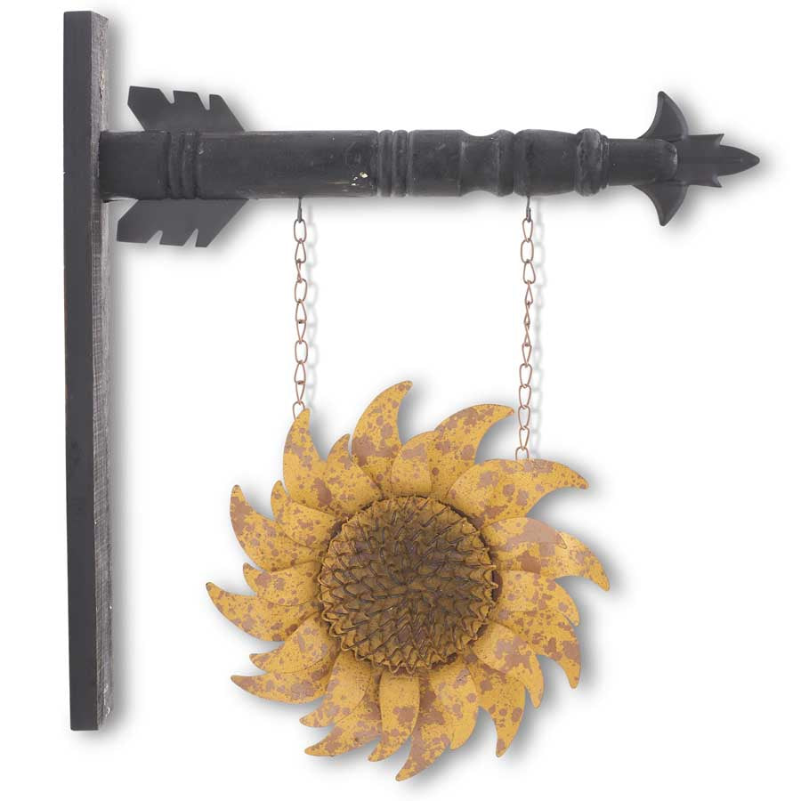 Distressed Golden Yellow Metal Sunflower Arrow Replacement