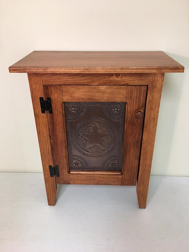 Harvest Single Door Cabinet with Tin Panel