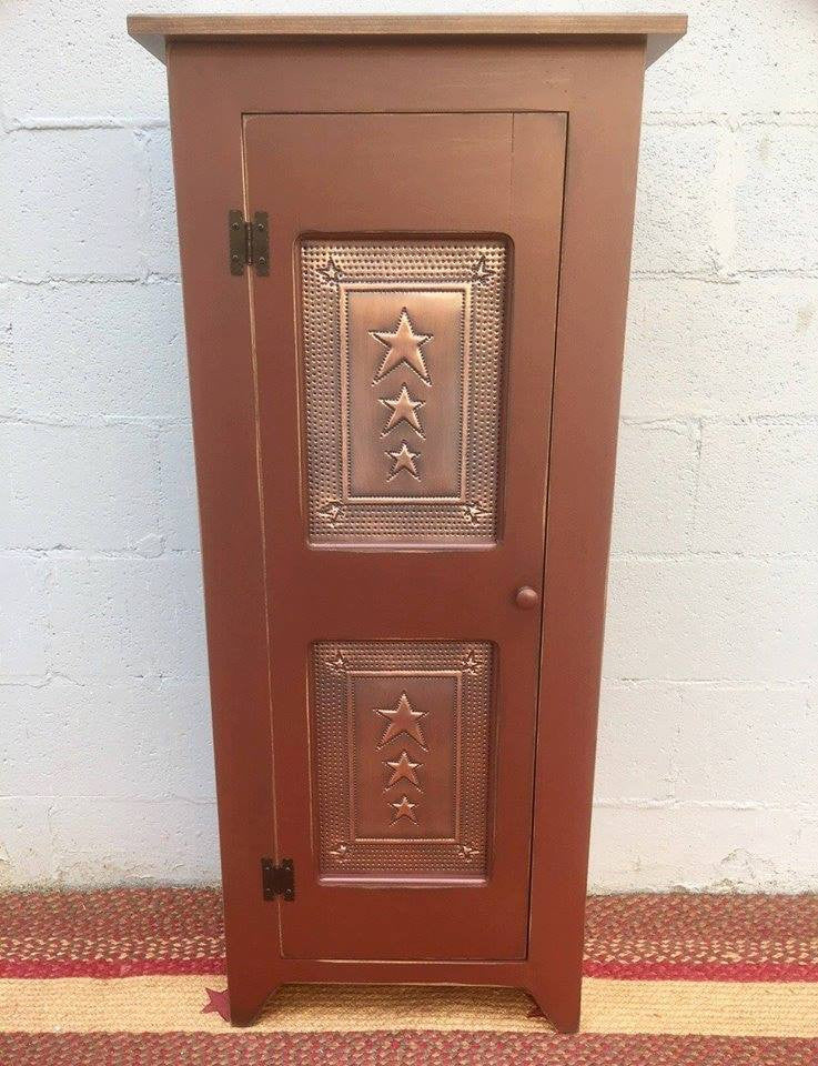 Pie Safe-Single Door with Copper Star Tin Panels