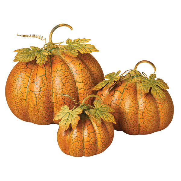 Pumpkin with Crackle Finish