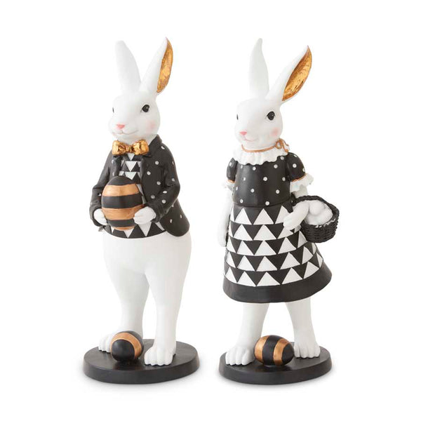 Black, White and Gold Bunnies
