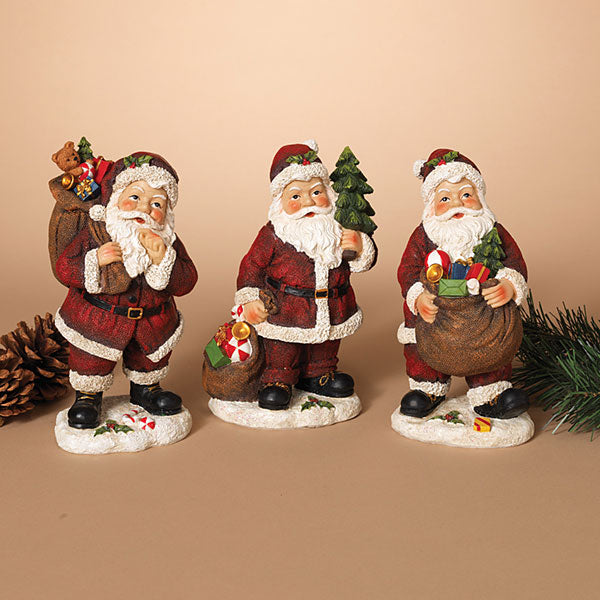 Resin Santa Figurines -Assorted
