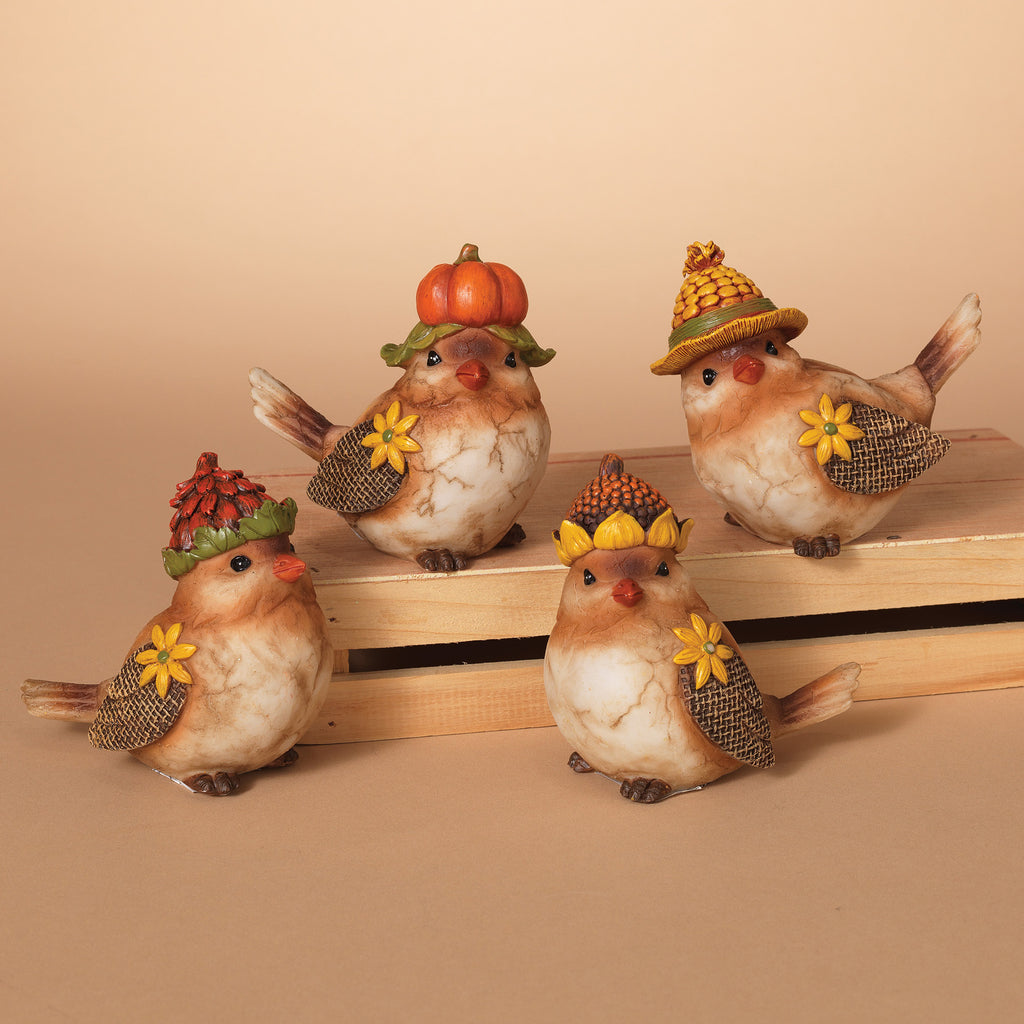 Resin Harvest Bird Figurine