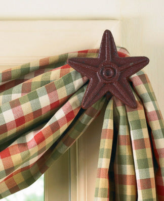 Cast Iron Star Curtain Hook