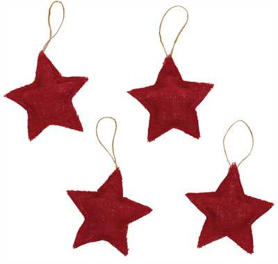 Burlap Star Ornament