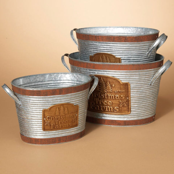 """Cmas Tree Farm"" Oval Container"