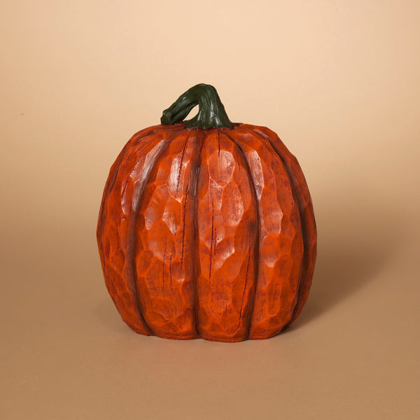 Orange Resin Wood Look Pumpkin