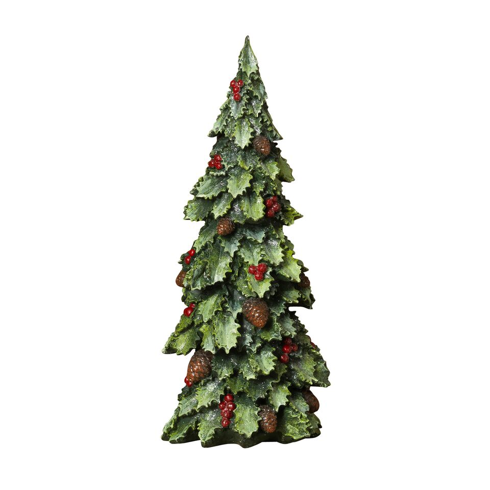 "14.6"" Resin Holly Berry Tree"