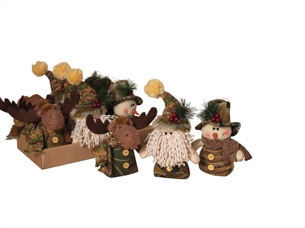 "5""H Plush Holiday Camouflage Ornament, Assorted"