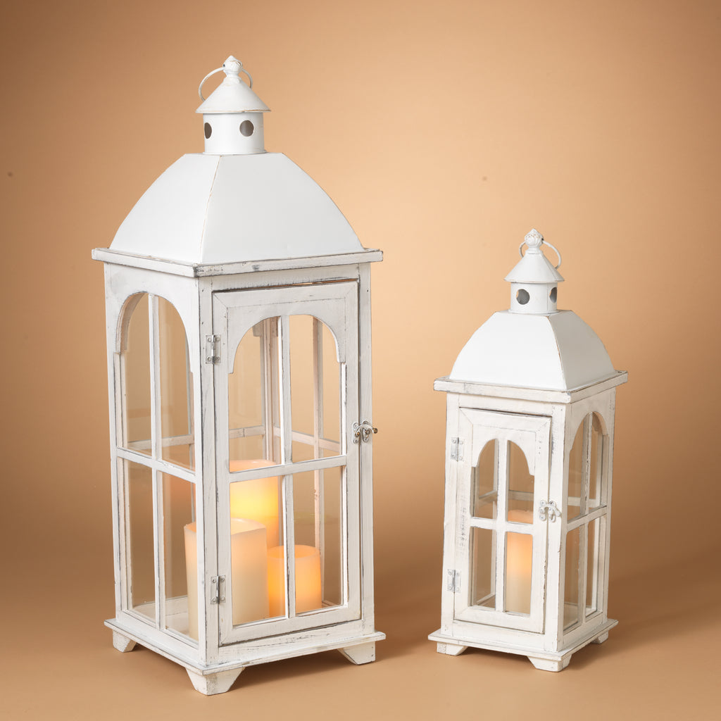 Wooden Metal Lantern-Large