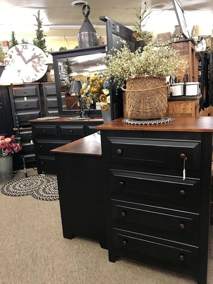 Black 4 Drawer Chest Of Drawers With Michaels Cherry Top Kc