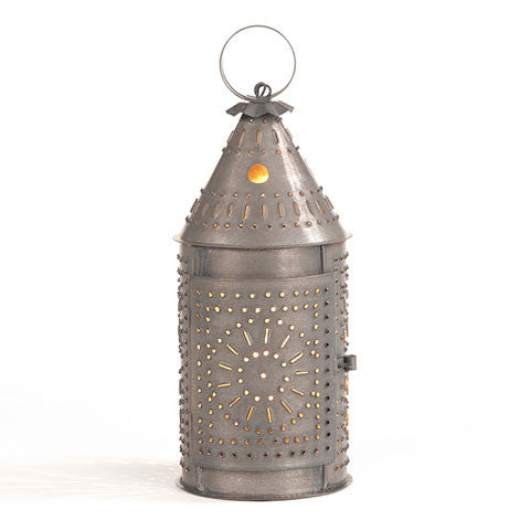 "12"" Revere Lantern in Blackened Tin"