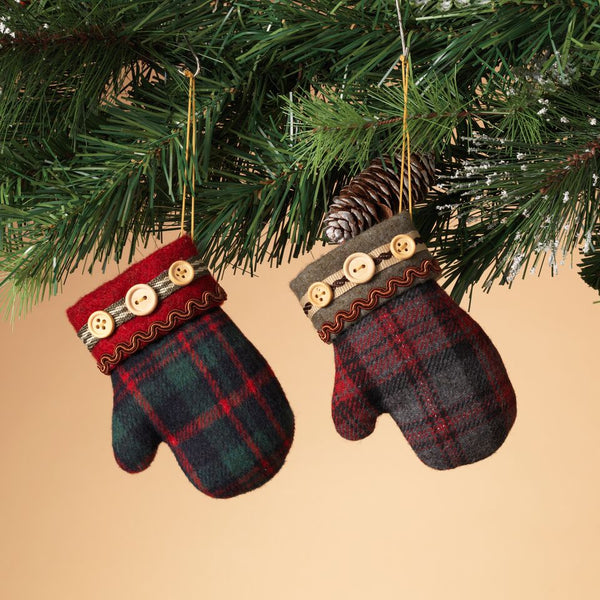 Plush Plaid Mitten - Assorted