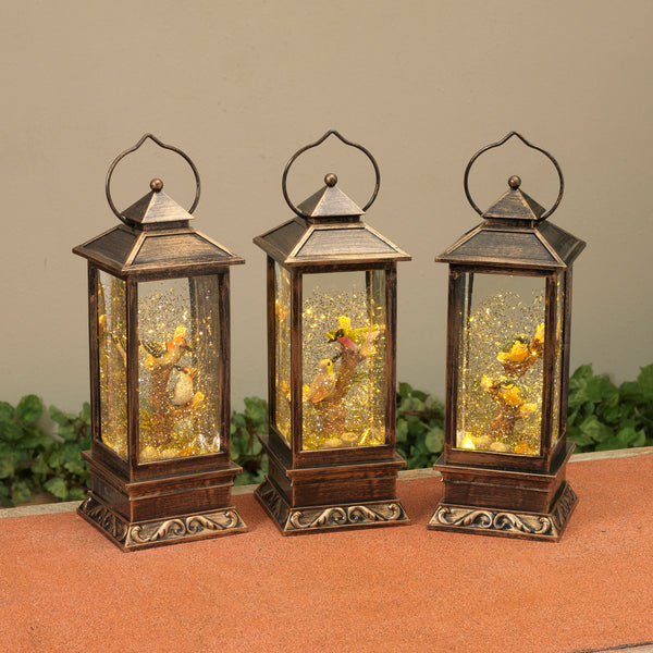 "10.25"" Battery Operated Lighted Spinning Lantern"