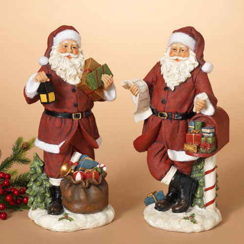 13 5 H Resin Santa Figurine Assorted Kc Collections