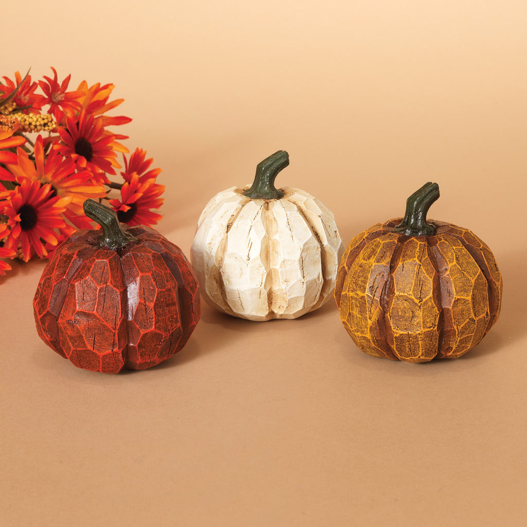 "Resin Pumpkin Figurine 3.5""H"