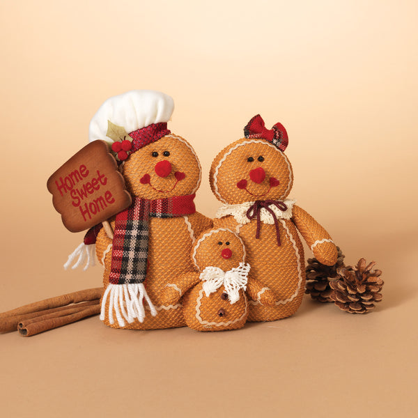 "10""L Plush Holiday Gingerbread"