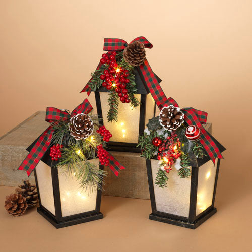 Battery Operated Lighted Holiday Lantern - Assorted
