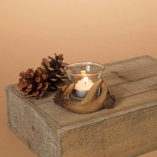 "4""D Resin Antler Tealight Holder"