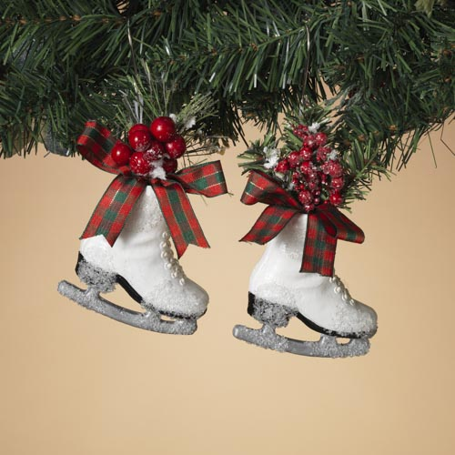 Holiday Ice Skate with PVC and Berries