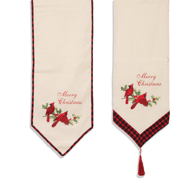"72""L Holiday Cardinal Table Runner"
