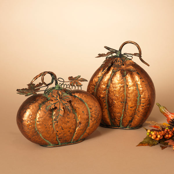 "9.25""H Metal Pumpkin"