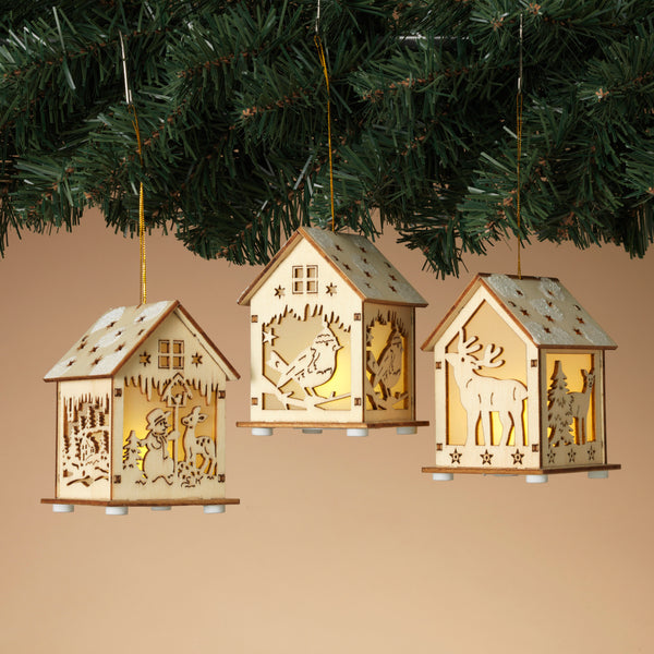 Laser Cut House Ornament