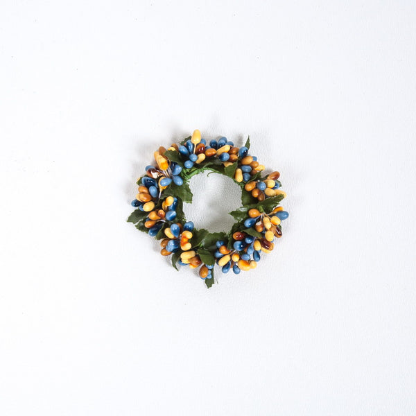 "1.5"" Rice Berry Candle Ring Yellow, Blue, Mixed"