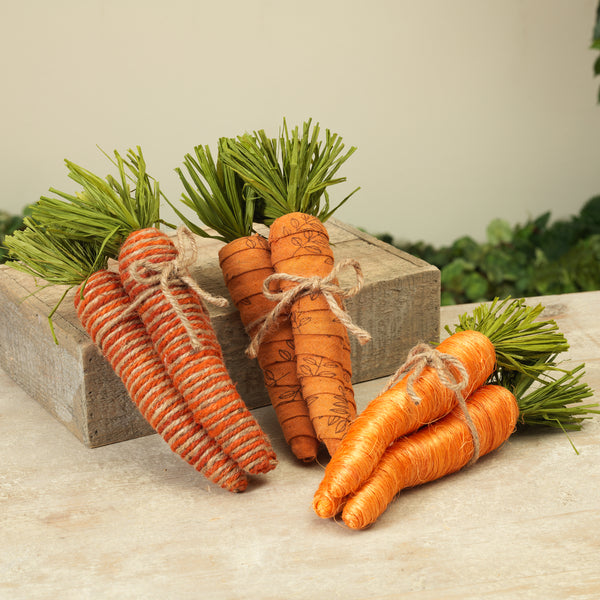 "10""H Carrot Bundle, 3 Assorted"