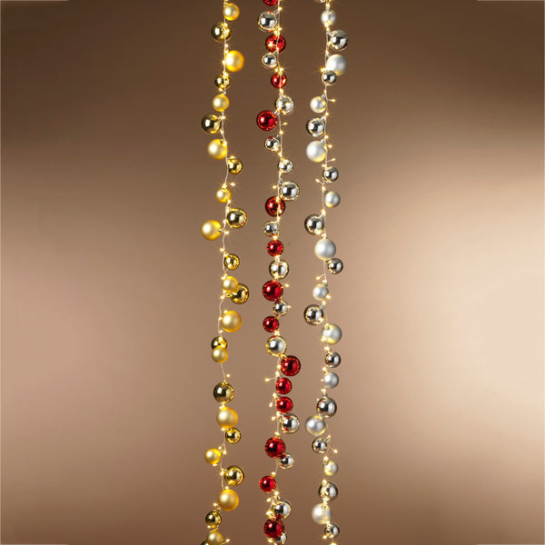 "58.5""L UL Electric Lighted Ornament Strand"
