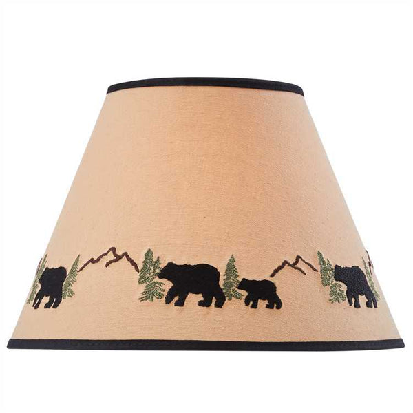 "12"" Black Bear Embroidered Shade"