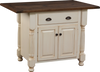 French Country Island Base and Rough Sawn Top with Bread Board Ends