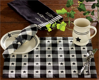 Checkerboard Star Napkin