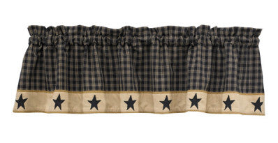"Sturbridge Star 60"" x 14"" Lined Valance"