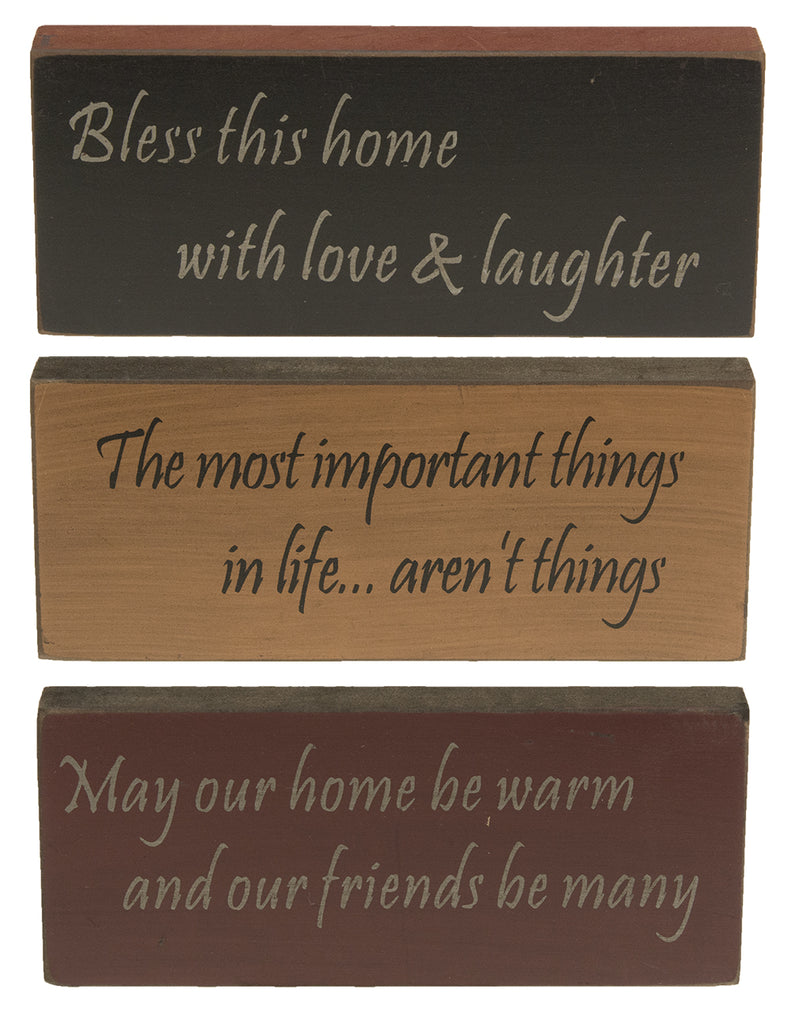 Bless This Home Stenciled Sign-Assorted