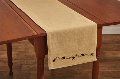 Burlap Star Table Runner