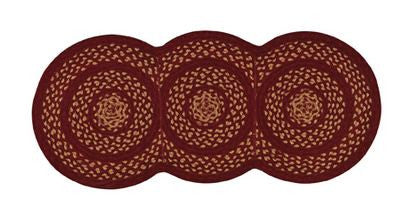 "Winesap 15"" x 34"" Braided Table Runner"