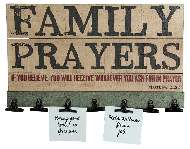 Family Prayers Board w/Clips