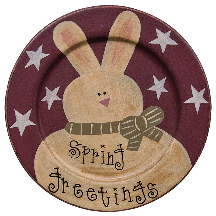 Spring Greetings Bunny Plate